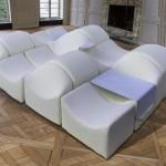 Large modular Asmara sofa de Bernard Govin
