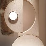 Grande Lampe en Travertin de Alberto Smania, Edition Aldebaran