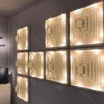 Set of 8 wall lights