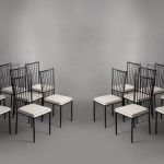 Set of 16 chairs by Colette Gueden