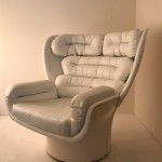 White Elda armchair by Joe Colombo