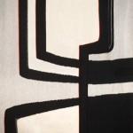 « Graphisme noir et blanc » tapestry by Danièle Raimbault-Saerens