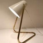 Lampe à cocotte blanche de Robert Mathieu
