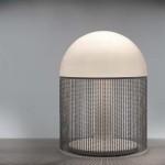 Rare lampe perles de Michel Boyer