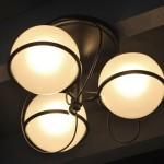 Lustre à Trois Lumières de Gino Sarfatti Edition Arteluce