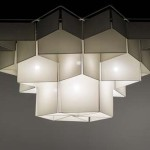 Monumental archi-lumiere ceiling light by Christian Germanaz