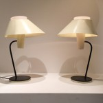 Rare pair of lamps by Jean Boris Lacroix