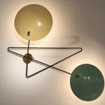 Rare double light wall light by Bruno Gatta