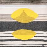 « Graphisme jaune gris » tapestry by Danièle Raimbault-Saerens