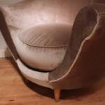 Paire de fauteuils italiens