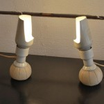 Paire de Lampes de Gino Sarfatti edition Arteluce