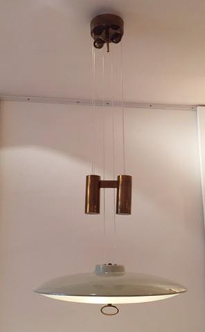 suspension contrepoids de max ingrand edition fontana arte. Black Bedroom Furniture Sets. Home Design Ideas