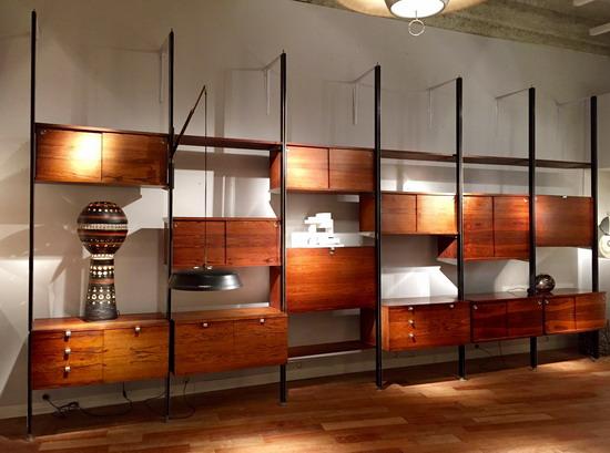 grande biblioth que avec applique arlus int gr e de george nelson edition herman miller. Black Bedroom Furniture Sets. Home Design Ideas