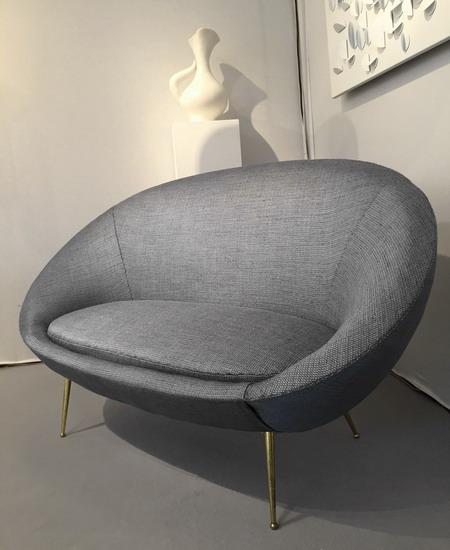 canap courbe ann es 50. Black Bedroom Furniture Sets. Home Design Ideas